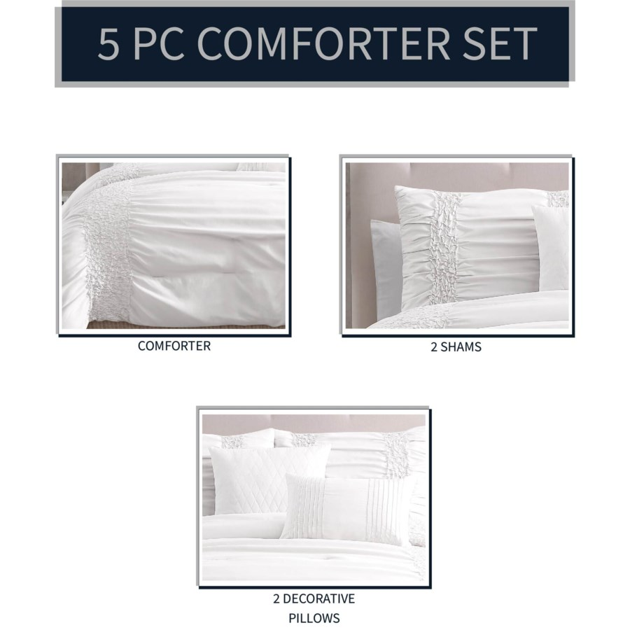 Amara 5 pc Full/Queen Comforter Set