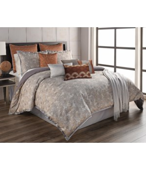 Anna 12 pc Queen Comforter Set