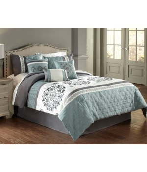 Aria 7 pc Queen Comforter Set