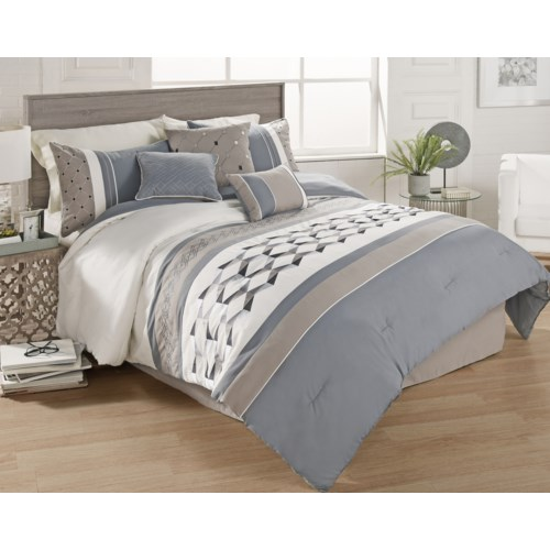 Bailey 7 PC Queen Comforter Set