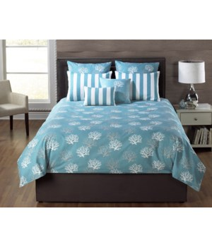 Barrier Reef Turquoise 3 pc Twin Comforter Set
