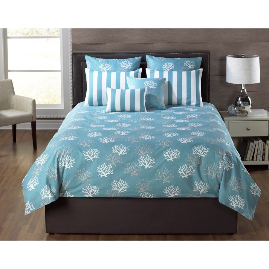 Barrier Reef Turquoise 6 pc Queen Comforter Set