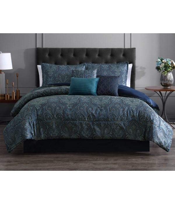 Bellwood 7 pc Full/Queen Comforter Set