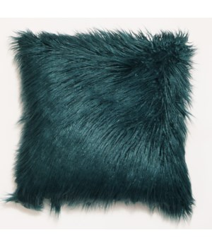 Mongolian Faux Fur Throw Teal