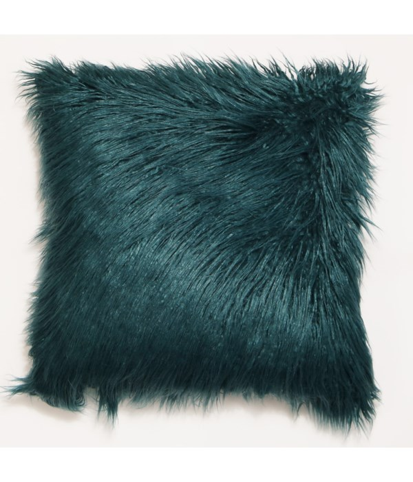 Mongolian Faux Fur Throw Teal