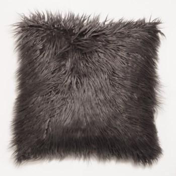 Mongolian Faux Fur Throw Charcoal