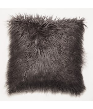 Mongolian Faux Fur Throw Charcoal