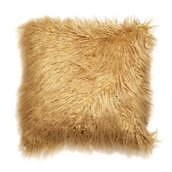 Mongolian Faux Fur Throw Gold