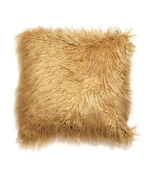 Mongolian Faux Fur Throw Gold