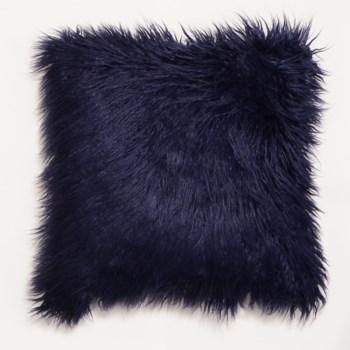 Mongolian Faux Fur Throw Sapphire