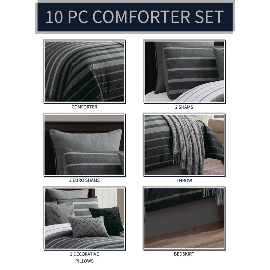 Brennan 10 PC Queen Comforter Set
