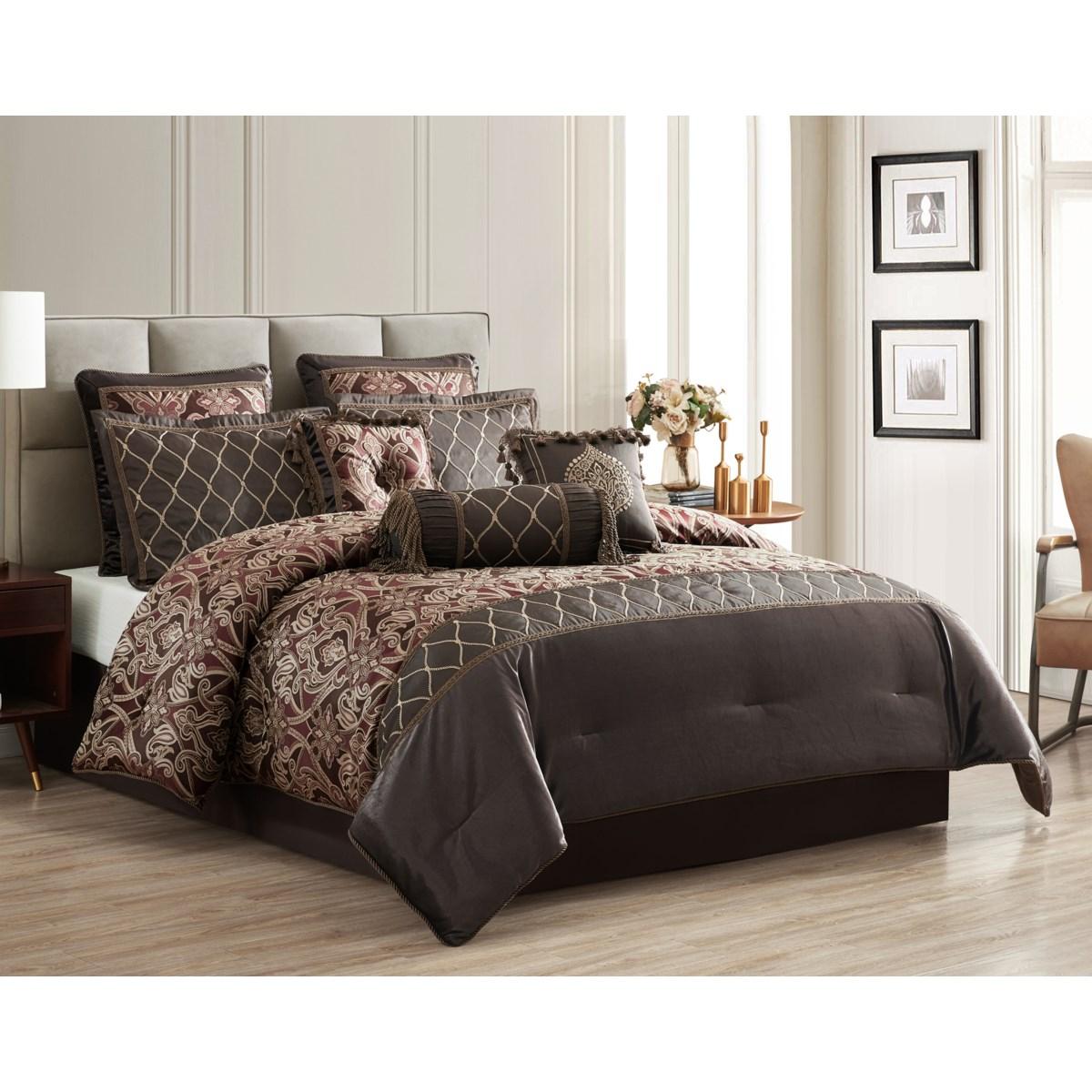 Bridesdale 9/10PC King Comforter Set
