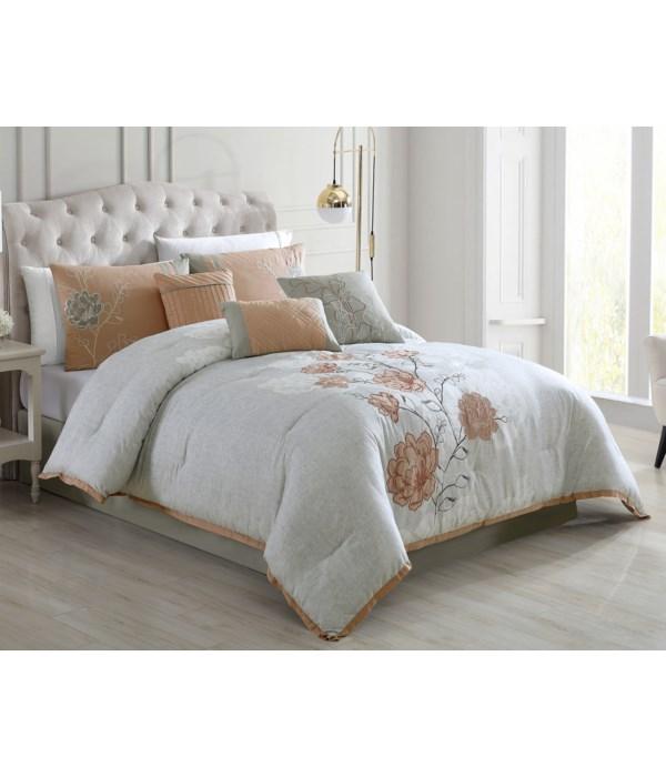 Brittney 7PC Queen Comforter Set