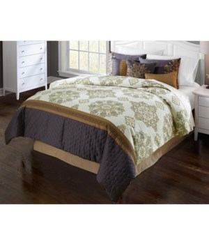 Brylee 9 pc Queen Comforter
