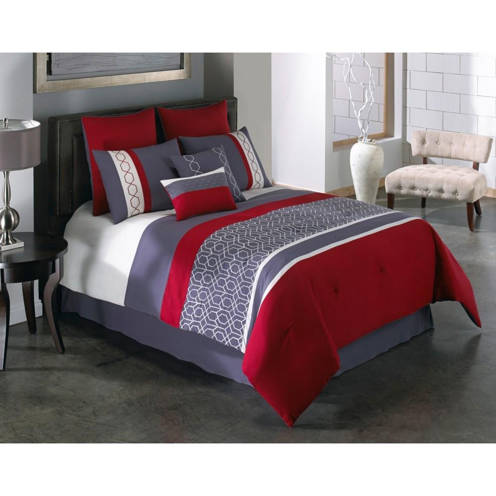Carlin 8pc Queen Comforter Set