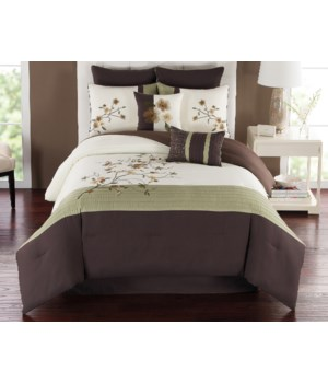 Catherine 8pc Queen Comforter Set
