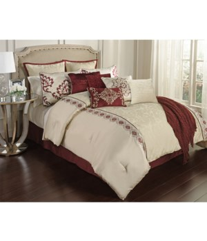 Courtney 12 pc Queen Comforter Set