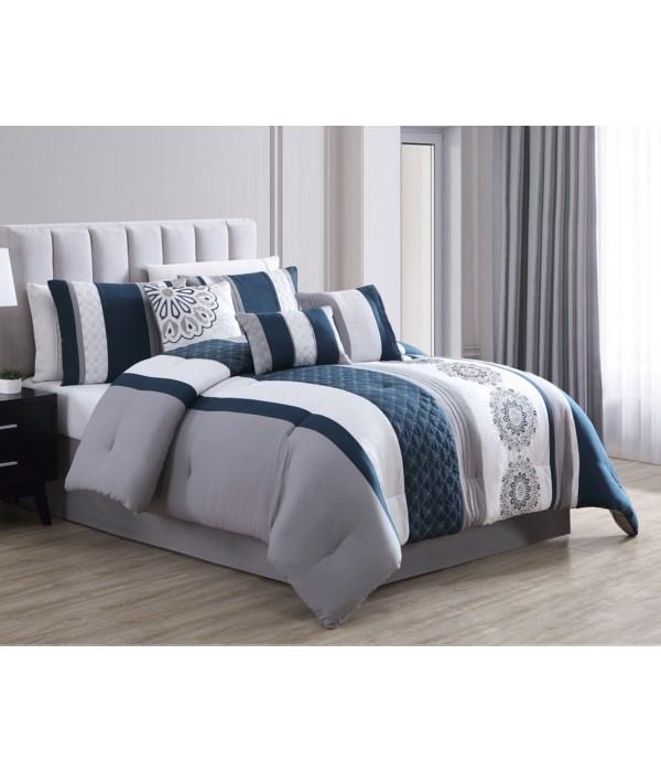 Crawley 7PC Queen Comforter Set