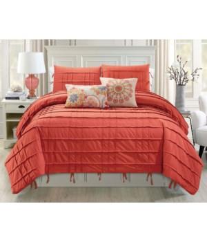 Cyra 5 pc Queen Comforter Set