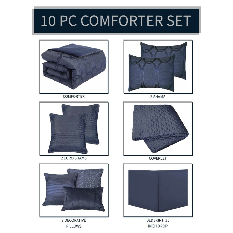 Danielle 10 pc Queen Comforter Set