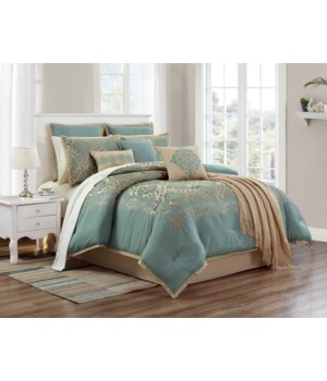 De Rossi 10 pc Queen Comforter Set