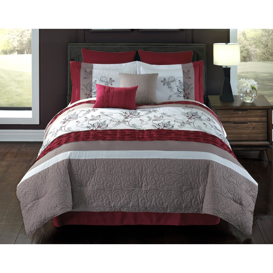Eloise 8 Piece Queen Comforter Cover w Filler Set