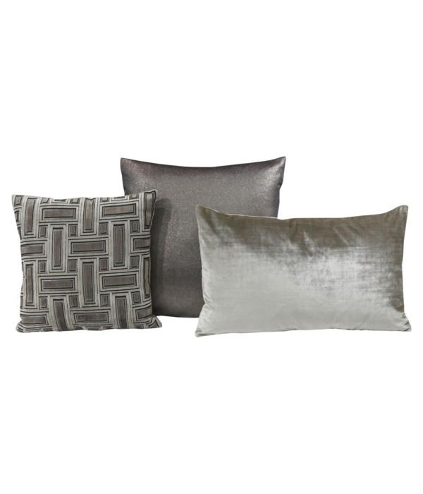 Feldspar 3 pc Pillow Set