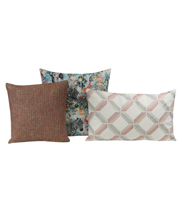 Florine 3 pc Pillow Set