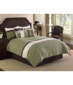 Frontera Quilted 7pc Queen Comforter Set