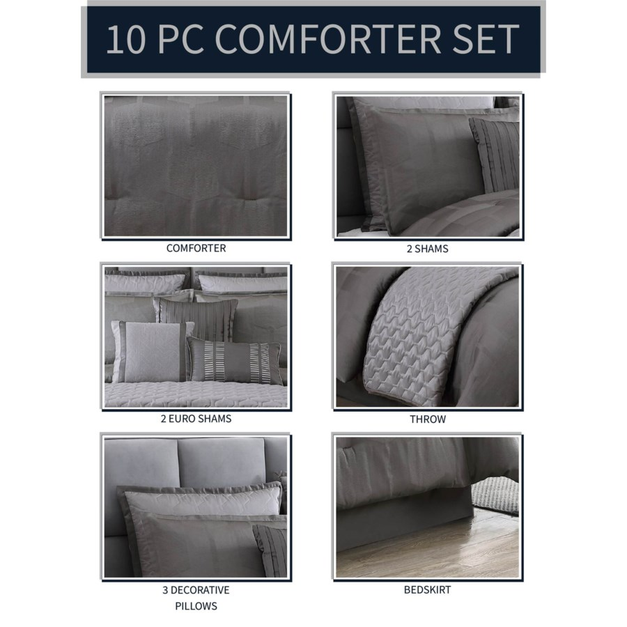 Garian 10 pc Queen Comforter Set