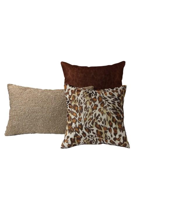 Gratitude 3 pc Pillow Set  - Copper