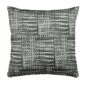 Grey texture Jacquard 18x18 Pillow Grey