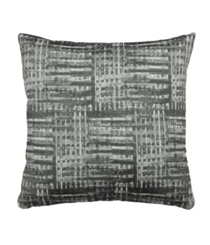 Grey texture Jacquard 18x18 Pillow Grey