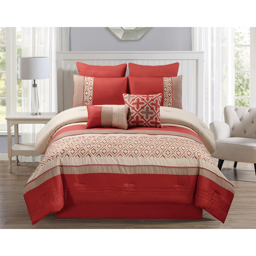 Jaylin 8pc Queen Comforter Set