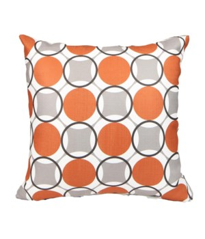 Kaleidoscope Orange 18x18  (Made in USA)