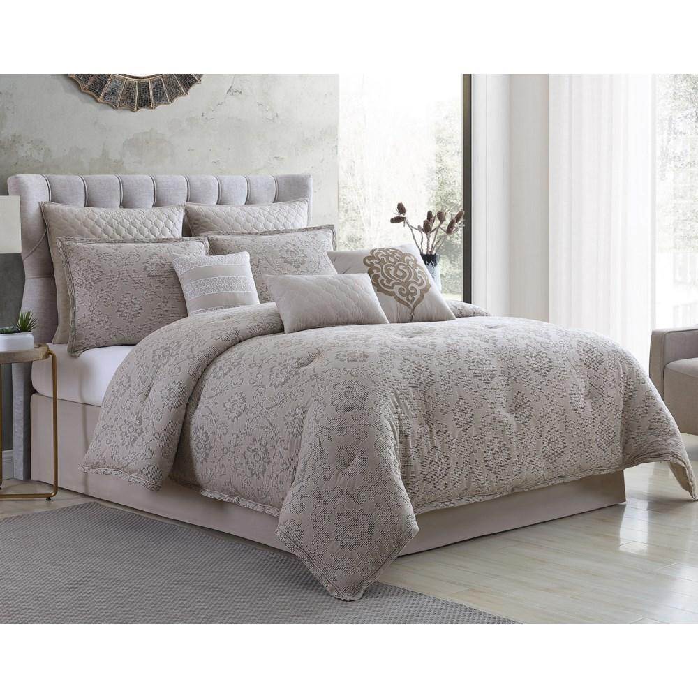 Kearney Damask 9 pc Queen Comforter Set