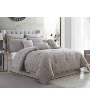 Kearney Damask 9 pc Queen Comforter Set
