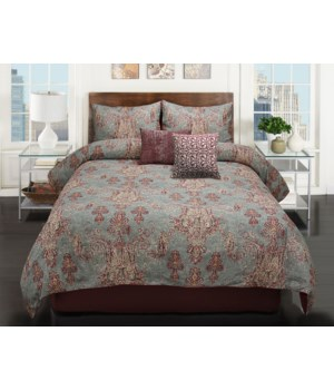 Korin 5 pc Queen Comforter Set