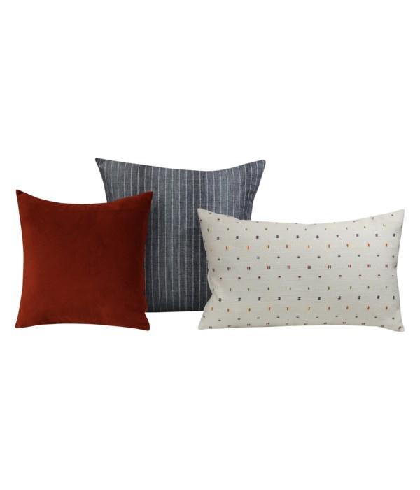 Lacuna 3 pc Pillow Set