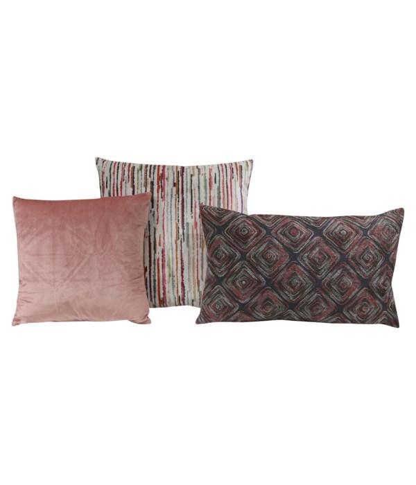 Laina 3 pc Pillow Set