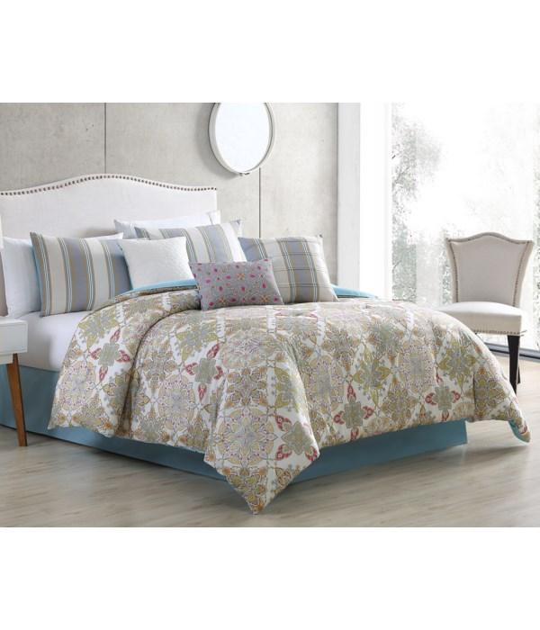 Lanna 7PC Queen Comforter Set
