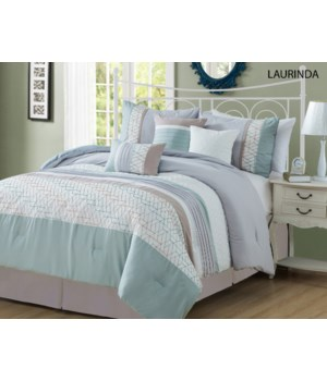 Laurinda 7pc Queen Comforter Set