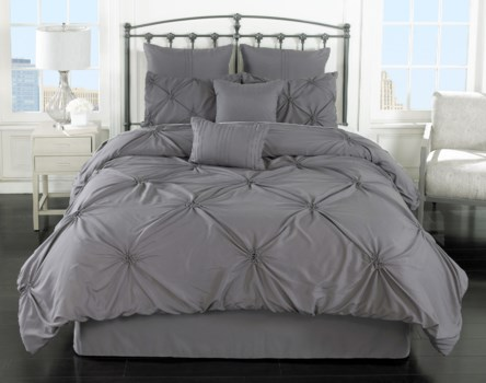 Lila Gray 8pc Queen Comforter Set