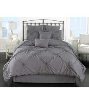 Lila Gray 8pc King Comforter Set