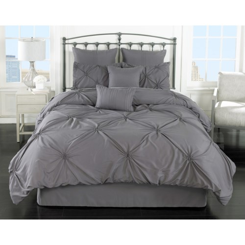 Lila Gray 8pc Queen Comforter Set