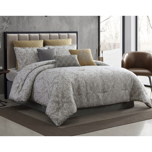 Lisbon 9PC Queen Comforter Set