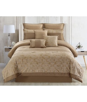 Majestic 9PC Queen Comforter Set