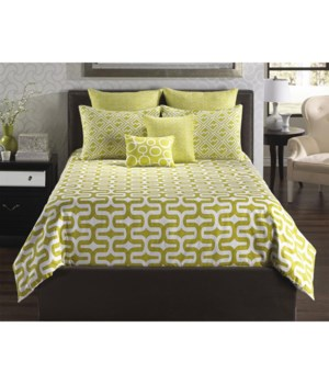 Mod Citron 6 pc Queen Comf. Cover Set