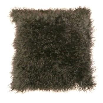 Mongolian Lamb Fur Cushion Cover Gray