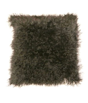 Mongolian Lamb Fur Cushion Cover Gray